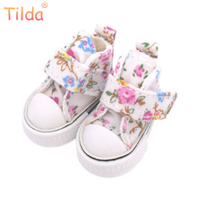 Tilda 3.5 cm Blyth Doll Shoes,Floral Canvas Fabric Blyth Shoes for Blythe BJD Doll 1/6 Flower Fabric Shoes for Joint Body Dolls(China)