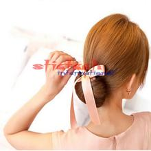 by dhl or ems 200 pcs Fashion Women Magic Tools Foam Sponge Quick Messy Donut Bun Hairstyle Girl Hair Bows Band Accessories(China)