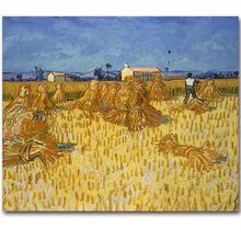 Canvas Print Artwork By Vincent Van Gogh The Harvest Oil Painting Canvas Reproduction Landscape Painting Wall Art Prints