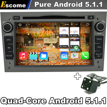 Pure Android 5.1.1 Car DVD player Stereo Gray Color for Opel Vectra b Tigra Combo With Bluetooth Radio Rear View Camera