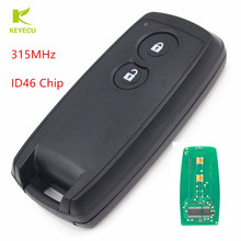KEYECU New Remote Key Fob 2 Button 315MHz ID46 for Suzuki SX4 Grand Vitara Swift With Smart Key(China)