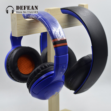 Buy universally wood oblong wooden headset stand hanger desk double hang headphone holder rack display headphone earphone for $17.10 in AliExpress store