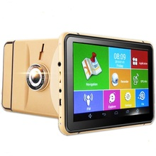 7 INCH MTK8127 android GPS navigator Capacitive HD screen car DVR 1080P wifi bluetooth AV in support rearview camera