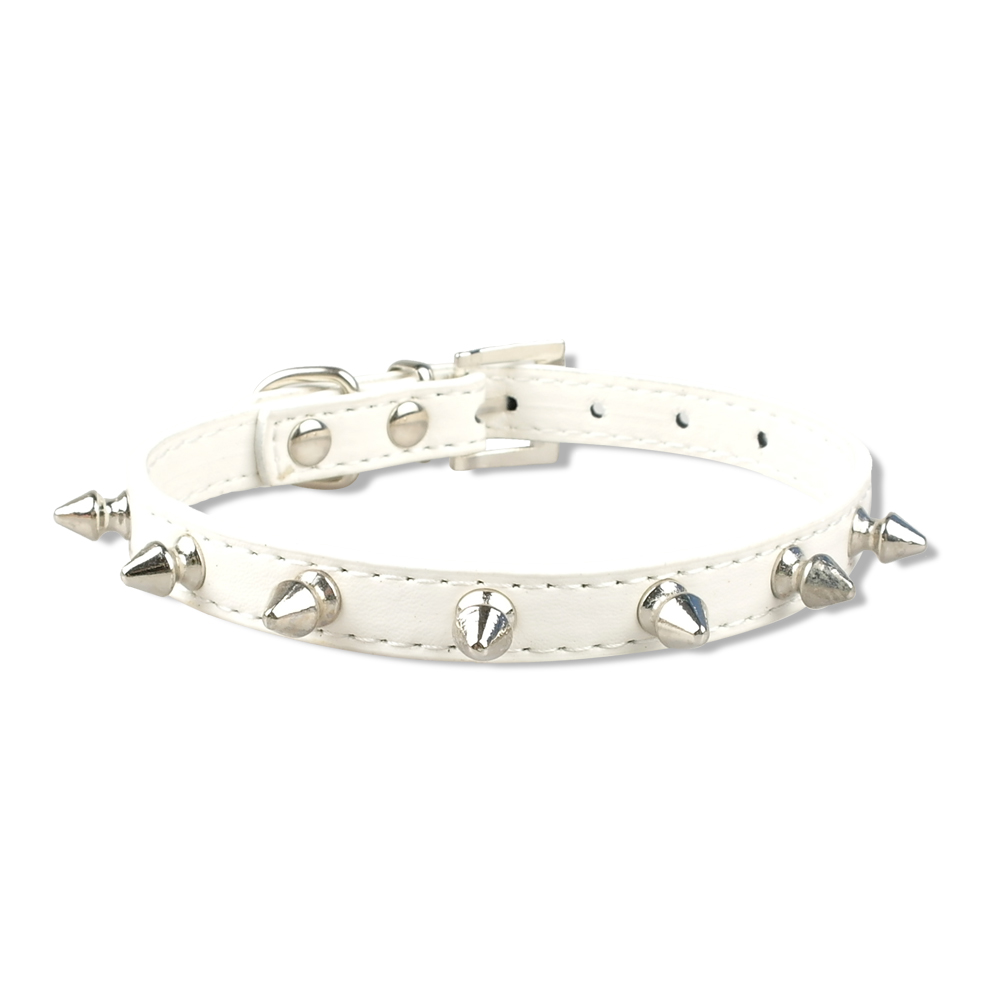 1 Row Rivets Studded Leather Collars, Soft Pu leather, durable & comfortable | DogsMall-International