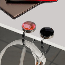 Metal Portable Handbag Hook Foldable Handbag Hanger Bag Desk Hanger Cabinet Folding Purse Bag Hook Hanger Holder