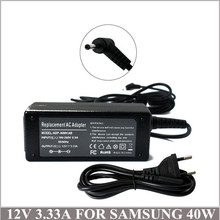 12V 3.33A 40W Laptop AC Adapter Battery Charger For Notebook Samsung Tablet PCS AD-4012NHF A12-040N1A XE303C12