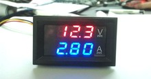 Voltmètre Ampèremètre double affichage digital DC 0-100V 10A pour montage en façade.