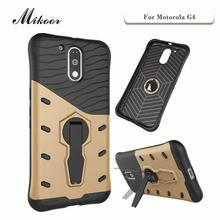 Mikoor Fashion Armor Stand Rotate 5.5For Motorola Moto G4 Case For Motorola Moto G4 Cell Phone Case Cover
