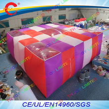 free air shipping to door,9*9*2mH Outdoor inflatables sport games,Large inflatable laser tag arena maze with 2pcs air fans(China)