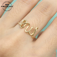 PINJEAS Oui Ring handmade Sterling/ / Wire Wrap Filled French Word Bride Girlfriend Gift anneau Simple Wedding Jewelry(China)