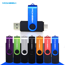 Moweek  16GB 6PCS/Pack Mix Color OTG USB flash drive  pendrive usb external Storage memory stick