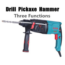 220v 850w Portable Family Expenses Multifunction Electric Hammer Drill Pickaxe Multi Tool Punch Power Tools (with 4pcs Drills)