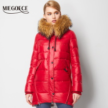 MIEGOFCE 2016 New Winter Collection Winter Women Coat Jacke Down Parka with a Real Raccoon Fur Coat for Women in European Style(China)