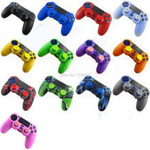 IVYUEEN 2 in 1 Soft Silicone Rubber Case Cover For Play Station Dualshock 4 PS4 DS4 Pro Slim Wireless Controller Skin + 2 grips