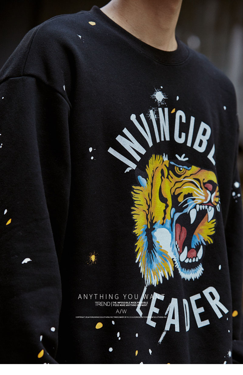 Aolamegs Male Sweatshirt Tiger Inked Print Sweatshirts O-Neck Pullover Streetwear High Street Hip hop Fashion New Autumn Winter (13)