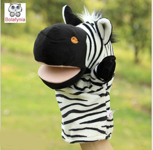 Children Hand Puppet kids doll baby infant plush Stuffed Toy zebra stripes animal Puppets toys Christmas birthday gift