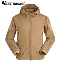 WEST BIKING Men's Cycling Wind Coat Autumn Winter Thermal Thicken Long Sleeve Down jacket Outdoor Survival Dust Windproof Jacket(China)