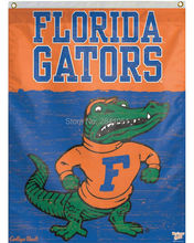 University of Florida Gators Throwback Helmet Team American Outdoor Indoor Football College House Flag 3X5 Custom Any Flag