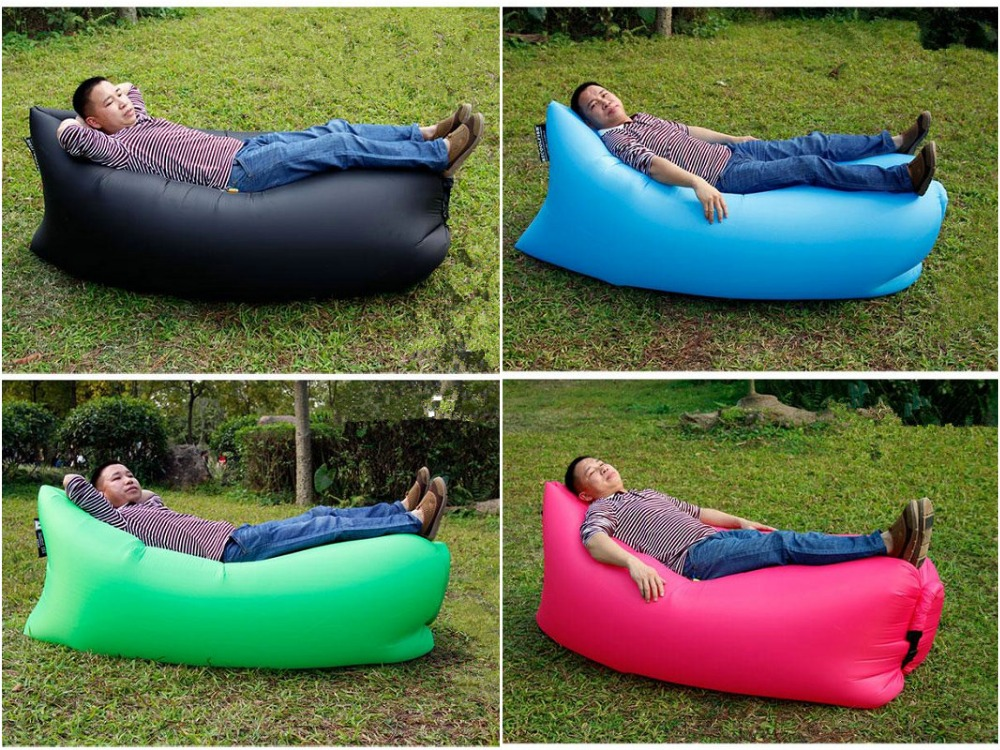 New outdoor wind bag portable bean bag bed inflated by wind for sale<br>