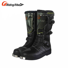PRO-BIKER Motorcycle Boots Men Riding Boots Racing Motocross Shoes Off-Road Motorbike Riding Boots Waterproof B1007(China)
