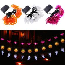 YUNLIGHTS 3.5M 30 LED Hallowen Pumpkin Bat Ghost String Lights Battery-powered Decoration Lights for Hallowen Party Decoration