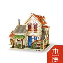 Free Shipping 3D Wood Puzzle DIY Model Kids Toy ,Puzzle 3d Building with Distinctly Ethnic Flavors from Around the World(China)