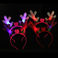 Christmas sequins antlers hair band children Christmas party tire gift decoration haripin Children's toys mixed(China)