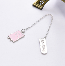 1 Pcs Kawaii Snacks Metal Bookmark Chocolate Cookies Candy Pendant Bookmark Page Holder Stationery School Supplies(China)