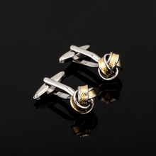 Fashion High Quality French Stainless steel knot Cufflink For Mens Shirt Brand suit Cuff Buttons Top sale Cuff Links Jewelry(China)