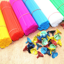 100pcs 27CM Mulit Color Balloon Rods for Support Balloon Stick Wedding Party Balloon Decoration Accessories Party Supplies