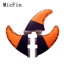 Free shipping 2017High quality FCS II G5 surf fins with fiberglass honey comb material for surfing 003 SIZE M(China)