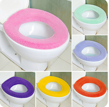 2015 New Warmer Toilet Washable Cloth Seat Cover Pads  In O-shaped Flush Toilet Free Shipping O