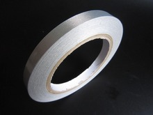 1x 19mm* 20 meters Silver Plain Sticky Conductive Fabric Tape for Laptop LCD OPP Mobile Phone Cable Wrap EMI Shielding(China)