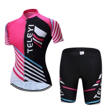 TELEYI Women Bike Cycling Clothing/ Cycling Jersey Sets Bicycle Team Quick-dry Outdoor breathable ciclismo Sportwear Clothing