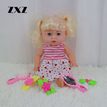 ZXZ 14 Inch Love Doll IC Sound Reborn Baby Doll Kit With Beautiful Decorations(China)