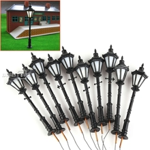 10 x LED Park lanterns Street lamp Modelmaking 1:75 Model railway Gauge HO/OO(China)