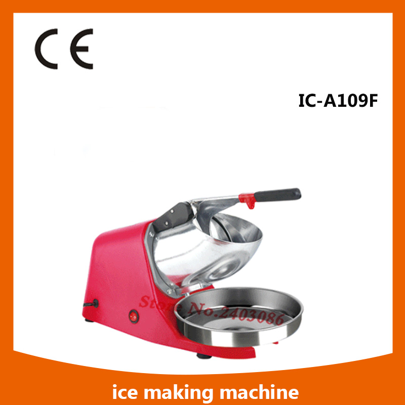 180W Electric Ice Crusher Maker Stainless Steel Shaver Machine Snow Cone Maker Shaved Ice Machine pink<br>