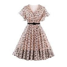 Buy Young17 Summer Vintage Dress Women Chiffon Light Apricot A-Line Sleeveless Party 2017 Plus Size Summer Retro Dress Chiffon Dress for $14.27 in AliExpress store
