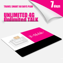 US 7 Days Plan T-mobile MOBILE PHONE SIM Card Unlimited TALK TEXT AND UNLIMITED 4G LTE DATA Cheapest Price