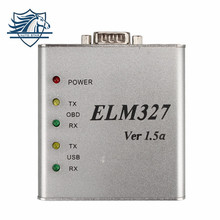 Highly Recommanded ELM327 Metal Aluminum OBD2 Auto Diagnostic Tool ELM 327 USB Metal Interface Code Reader Scanner V1.5/V1.5a
