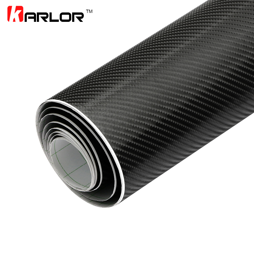 Car styling 152x200cm 4D Carbon Fiber Vinyl Film Wrapping Sheet Roll Stickers Motorcyle for Automobiles Hood Roof Accessories(China (Mainland))