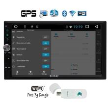 3G Android 6.0  two 2Din in Dash FM AM Radio 3G Car Video Player with Autoradio Bluetooth Wifi SWC GPS Navigation+free 3G Dongle