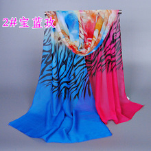 NEW DESIGN  printe ZEBRA flower neck scarf/scarves floral chiffon silk popular beach  hijab shawls/scarf 10pcs/lot XQ156