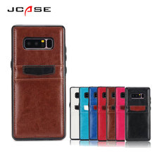JCASE Luxury Leather 360 Degree Protection Cell Phone Cases For Samsung Galaxy Note 8 Shell Cover For Galaxy note 4 Funda Coque(China)