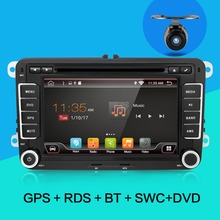 "2 din 7"" for VW android 6.0 Car DVD player for GOLF 5 Golf 6 POLO PASSAT CC JETTA TIGUAN TOURAN EOS with GPS wifi +free shipping(China)"