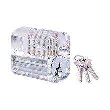 1Pcs Transparent Clear Practice Lock Locksmith Tools Visible Cutaway Lock with Standard Pins