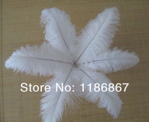 "P013 Wholesale 100pcs/lot 30-35CM ""12-14""Ostrich plumage Ostrich drab feather white ostrich feathers for sale(China (Mainland))"