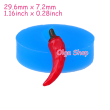 VYL020 29.6mm Chilli Pepper Silicone Mold for Fondant, Cake Decorating, Resin, Fimo Clay, Candy, Gum Paste, Chocolate, Food Safe(China)