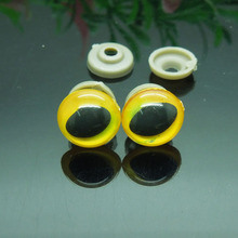 14mm Yellow Safety Eyes/Plastic Cat Doll eyes Handmade Accessories For Bear Doll Animal Puppet Making - 50pcs/lot