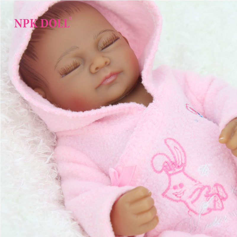 Aliexpress Com 10 Inches African American Baby Doll Black Realistic Life Like Reborn Newborn Babies Silicone Full Body Dolls From Reliable